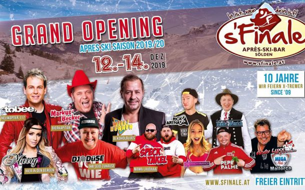 12. – 14.12.2019  Grand Opening – s'Finale
